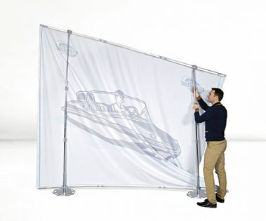 Expolinc Fabric System leichter Aufbau