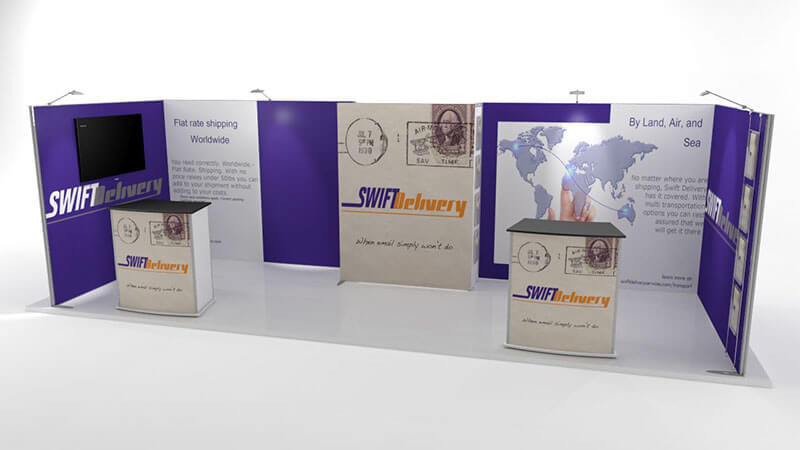 Isoframe Fabric 2x6 Messestand