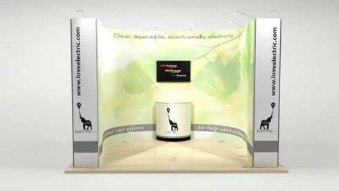 ISOFrame Wave Messestand 3x3 - Front