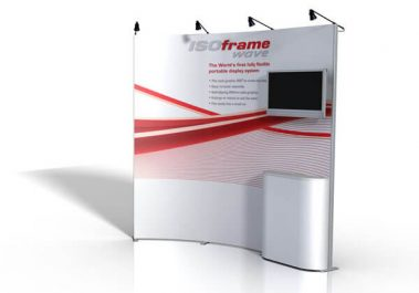 ISOframe Wave - Messewand mit Screen (klein)