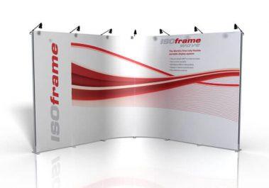 ISOframe Wave - Messewand (weicher 90° Winkel)