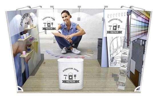 Messestand System Murus Fabric 12 qm
