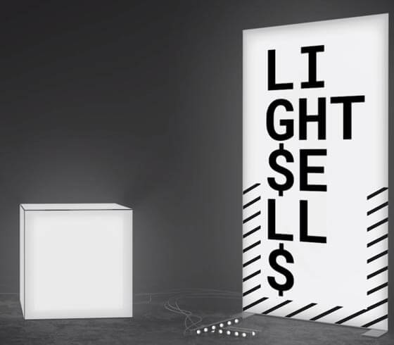 "PIXLIP Leuchtkasten ""Light sells"""