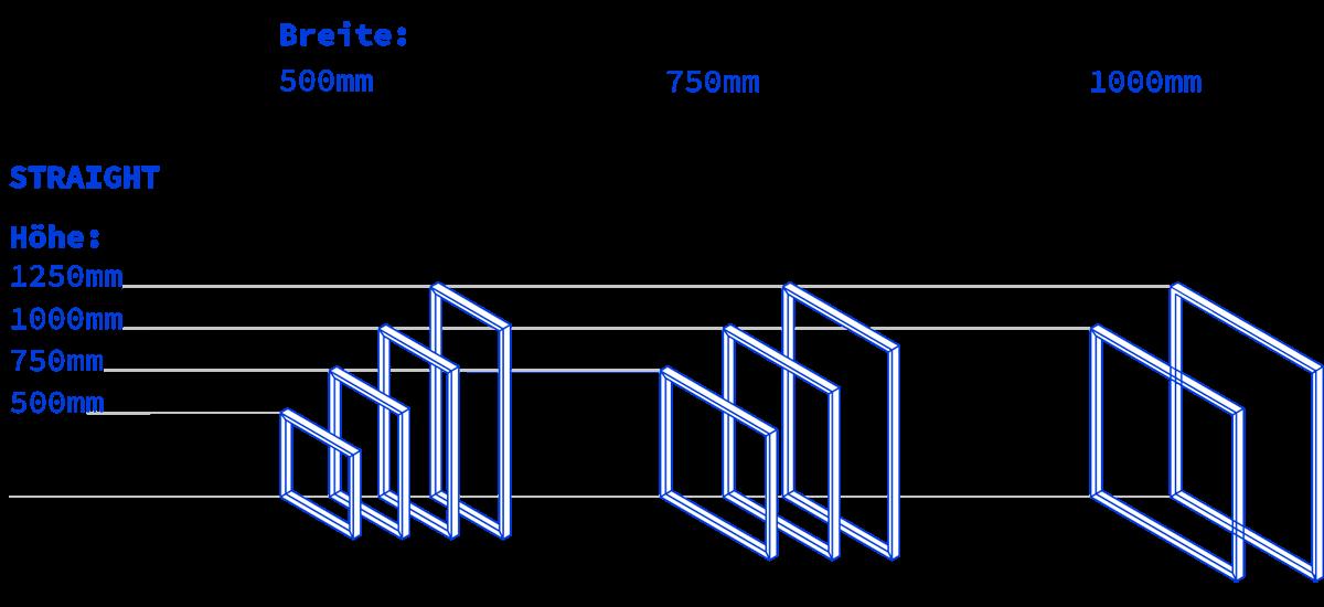 Zubehör Rahmen - Straight