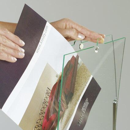 Aufsteller flippy Acrylhalter