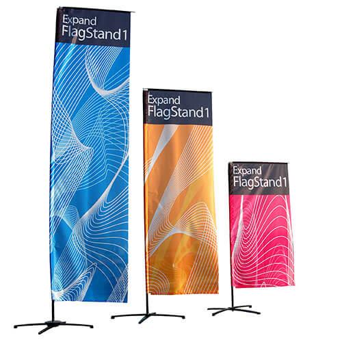 Expand FlagStand 1 in drei Grössen