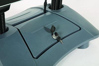 Kundenstopper Windpro LED Batteriefach abschliessbar