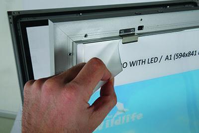 Kundenstopper Windpro LED Schutzfolie