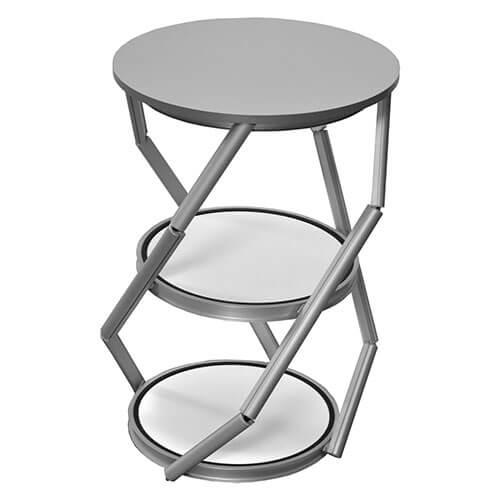 Messevitrine Twister Desk in Drehung