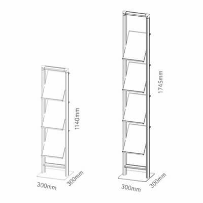 Prospektständer compact zwei Varianten
