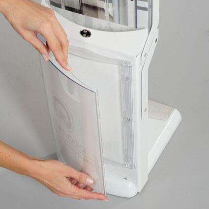 Prospektständer Real Bianco personalisiert