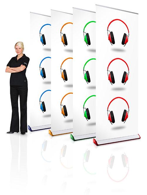 Roll Up Expand Quickscreen 3 Farben