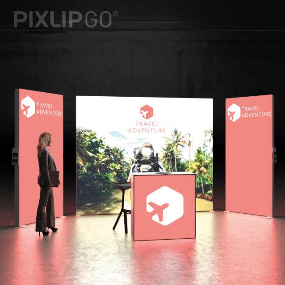 PIXLIP GO Messestand-Beispiel