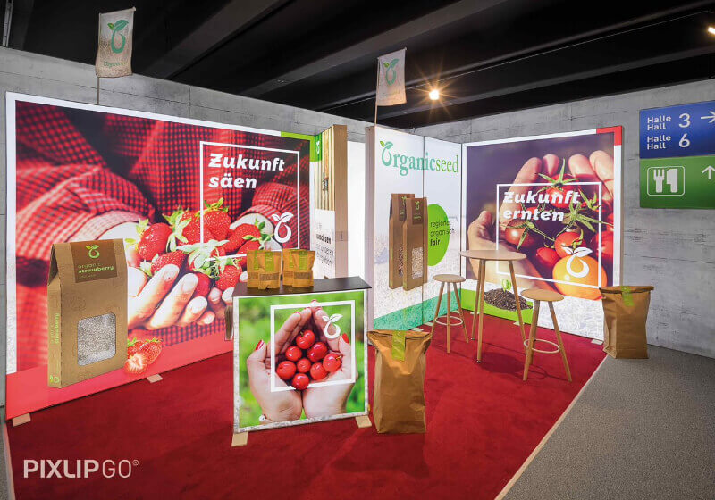 PIXLIP GO Messestand
