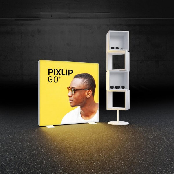PIXLIP GO LED Leuchtrahmen 100100 Aufsteller
