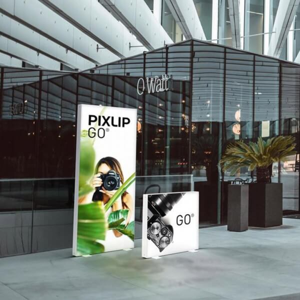 PIXLIP GO LED Leuchtrahmen Shopping Center