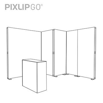 PIXLIP GO Messestand CL3030 scribble