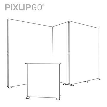 PIXLIP GO Messestand CS4020 scribble