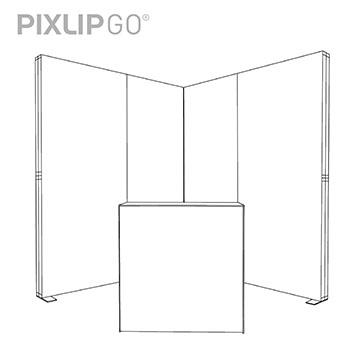 PIXLIP GO Messestand EL2020 scribble