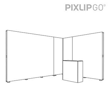 PIXLIP GO Messestand EL4030 scribble