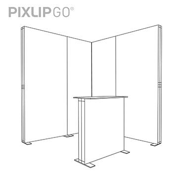 PIXLIP GO Messestand ES2020 scribble