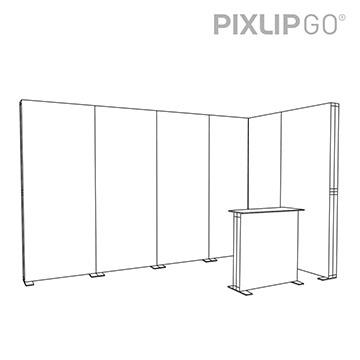 PIXLIP GO Messestand ES4020 scribble