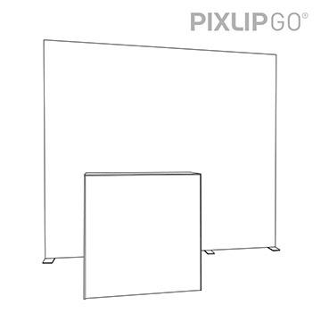 PIXLIP GO Messestand HL30 scribble