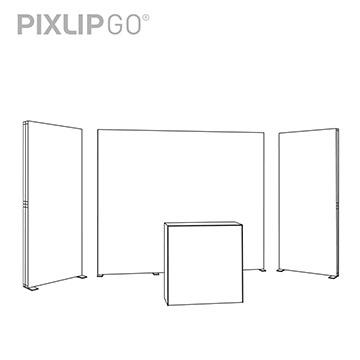 PIXLIP GO Messestand RL5020 scribble