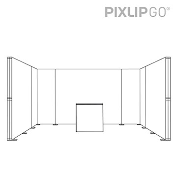 PIXLIP GO Messestand RL5030 scribble