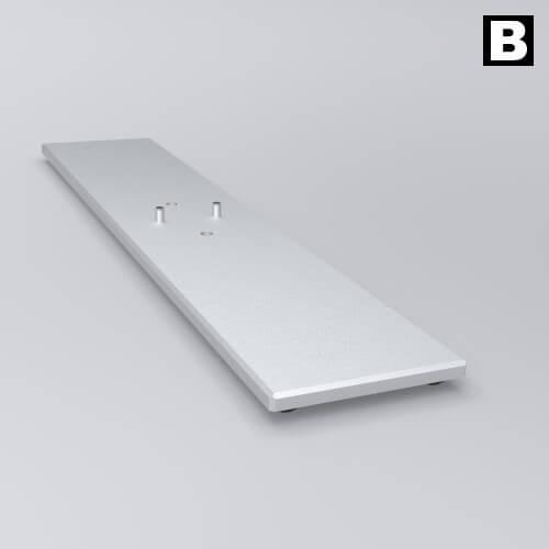 BIG LEDUP LED Leuchtrahmen Fussplatte