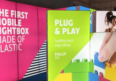 PIXLIP GO beleuchtete Werbedisplays