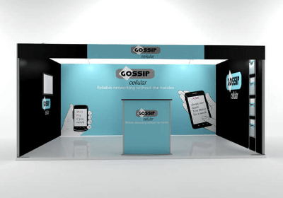 ISOframe Fabric Messestand